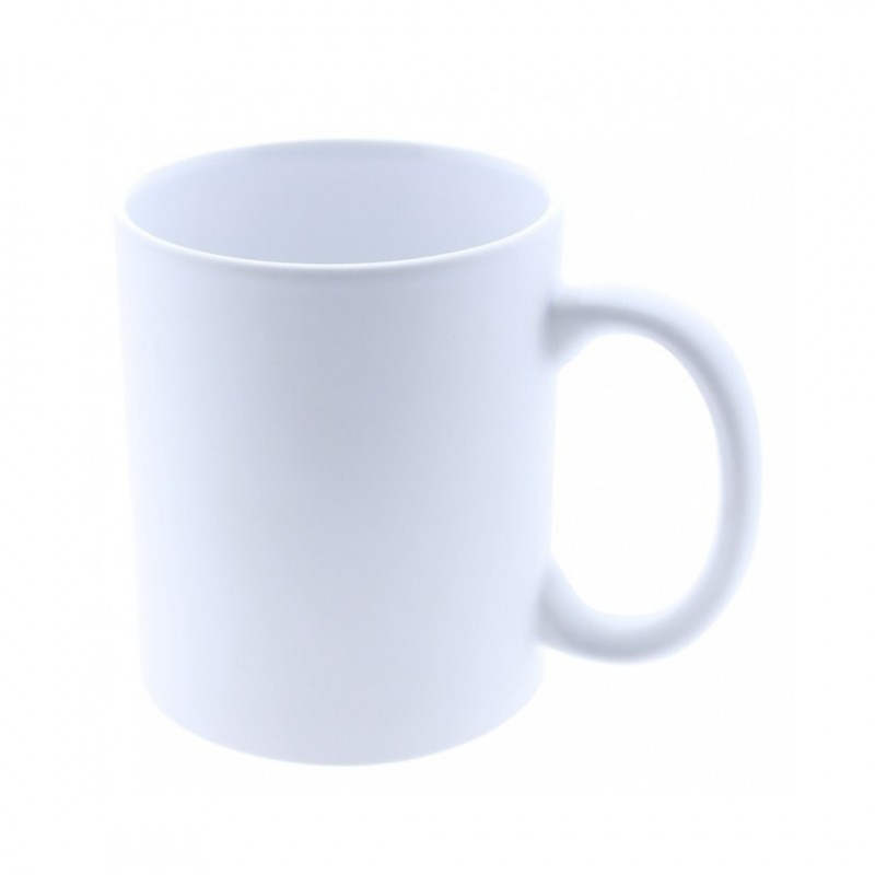 Taza cerámica personalizada blanca MATE para sublimación