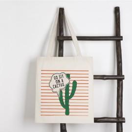 Bolsa tote bag algodon personalizada con impresión directa