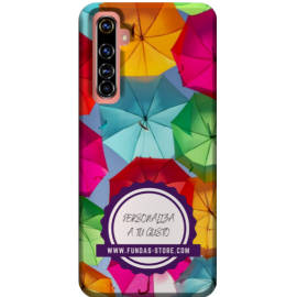 Funda para OPPO REALME x50 personalizada movil GEL TPU con foto 3D digital UVLED