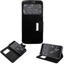 Funda personalizada para BQ E5 4G TAPA libro ventana con interior flexible con tu foto o logo