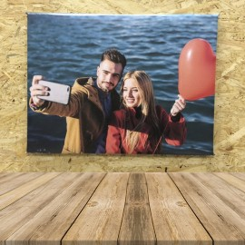 Lienzo fotografico personalizado 30 x 40 bastidor madera lona 510 grm texturizada